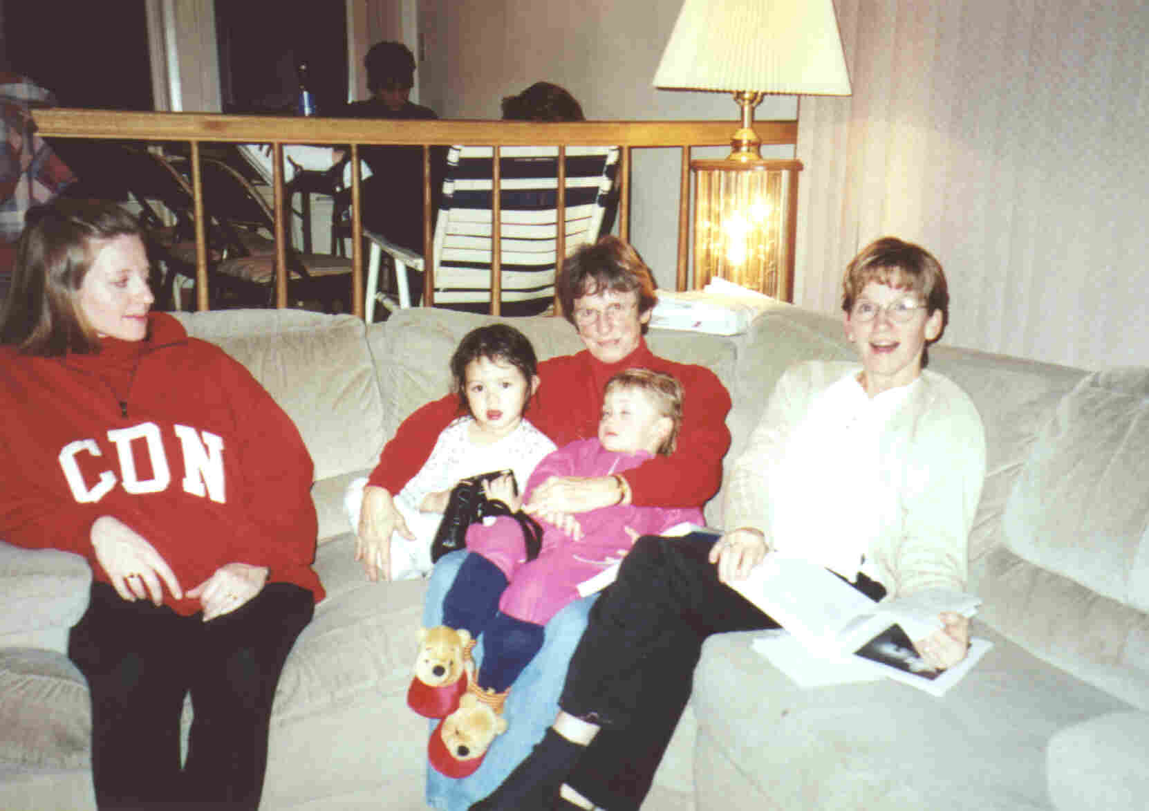 Christine, Pam, Jeannie and kids